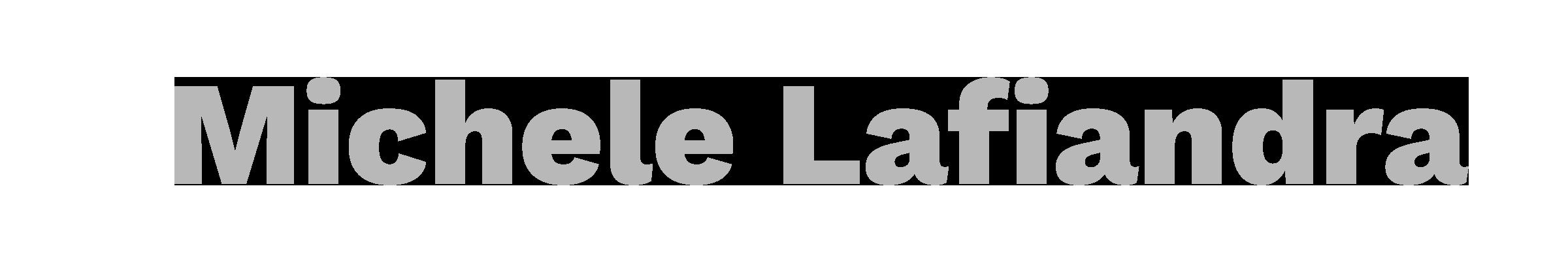 Logo Michele Lafiandra grey